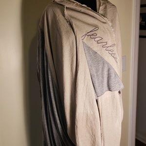Beautiful scarf/shawl. Beige and grey. Linen/Rayon